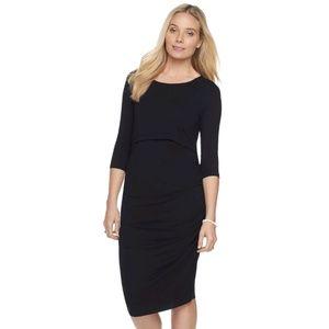 Maternity/Nursing Ruched Dress